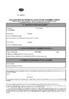 Cerfa déclaration en mairie des chambres d'hôtes (selon code du tourisme)