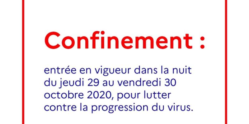 COVID-19 : Reconfinement national jusqu'au 1er décembre