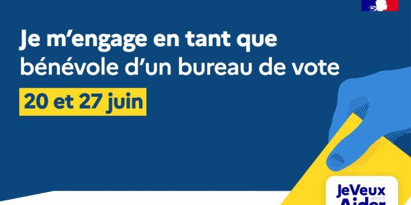 Elections départementales et régionales du 20 et 27 juin : devenez bénévole !